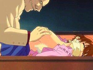 O Hentai Excitado Brinca Com Mamas. Porn