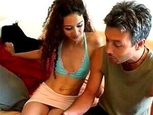 Castanho-escuro Sensual Esbelto Cabelos Compridos Idade Adolescente Digno Foda Hardcore, Porn