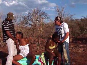 Uma Orgia De Safari Africana, Uma Orgia De Safari A Três Com Miúdas Africanas No Meu Safari Sexual. Porn