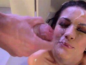 Katrina Jade Fica Bagunçado Facial Cum Dom De Pau Monstro Porn