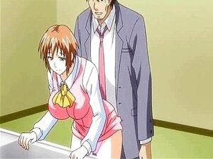 Anime Peituda Mulher Ficando Abalroada Porn