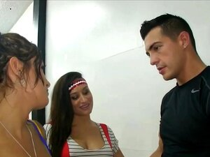 Wild Teen BFFs Group Fuck Dance Instructor To Secure Parts Porn