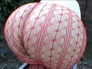 Bunda Grande UK Ginga Milf Em Tanga De Amp De Meia-calça Arrastão Porn