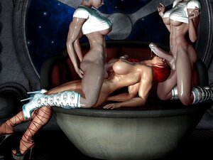 Sensual Art 3D - 2 Shemale Foda Uma Menina (muito Quente) Porn