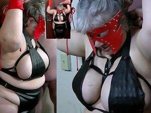 Tortura Dos Mamilos Com Picos. As Tetas Enormes Da Escrava São Embaladas Num Soutien Com Espigões No Interior.  As Suas Tetas E Mamilos São Depois Espancados A Conduzir Os Espigões.  A Dor Estava Quase No Seu Limite. Porn