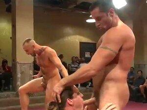 Hunks Musculosos Ao Vivo, Luta Porn
