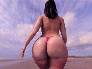 Bunda Grande Na D'Beach! Porn