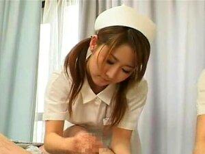 Legendada CFNM Hospital Japonês Enfermeiras Handjob Cumshot Porn