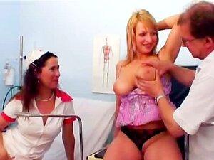 Doutor Mijando No Paciente E Enfermeira No Hospital Porn