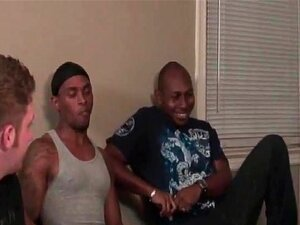 Gay Gangbang Seminar, Long-haired Homosexual Is Getting Shared And Creamed In Interracial Group Exercise Porn