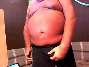 O Avô Gordo Mostra O Corpo No Cam., Porn