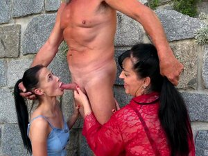Hardcore Outdoors FFM Threesome With Nicole Love And Teen Inna-Nicole Love, Inna Porn