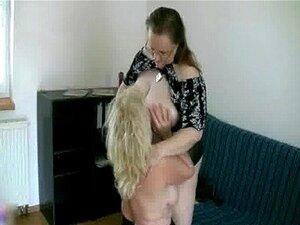 Vovó Loira Adora Sexo Lésbico Porn