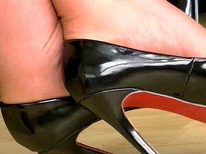 Sapatos De Salto Altos Pretos 4 Porn