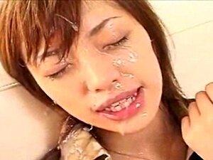Amador Asiática Tem Facial Cumshots Bukkake Porn