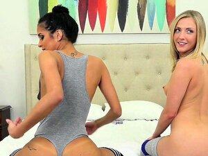 Abby Lee Brasil E Karla Kush Foda Na Coxa Meias Altas Porn