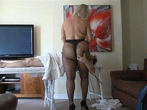 Meia-calça Massage Mulher De Bunda Grande Em Collants Porn